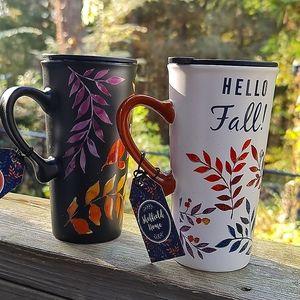 Shefield Home Ceramic Fall Mugs NWTs